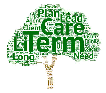 Long Term Care The Who The What and The How Word Cloud Concept Text Background Illustration