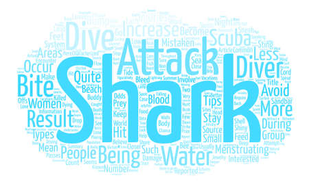 Shark Attack Word Cloud Concept Text Background