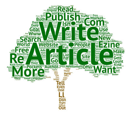 article writing: Tell the World About You text background word cloud concept