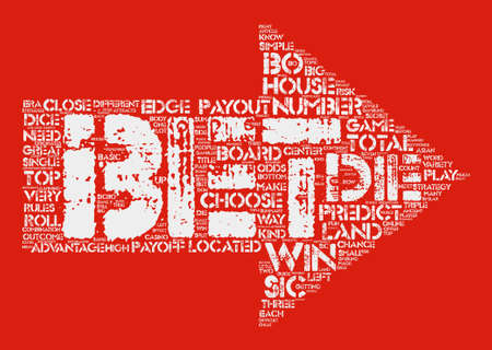 Sic Bo Basic Rules Word Cloud Concept Text Background 向量圖像
