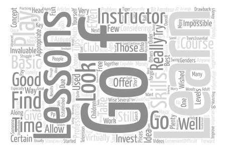 looked: Should You Take Golf Lessons text word cloud concept