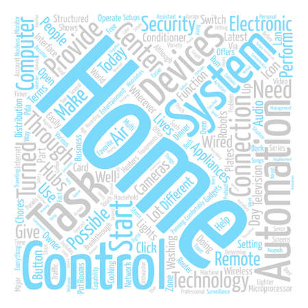 Let The Latest Technology Controls Your Home text background word cloud concept