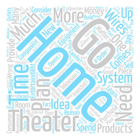 Home Theater Practicalities Word Cloud Concept Text Background