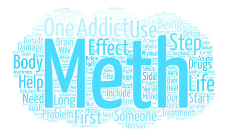 meth: How Does Meth Get a Grip on Someone Word Cloud Concept Text Background