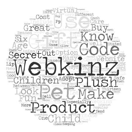 said: Why Webkinz Products Make Great Gifts Word Cloud Concept Text Background