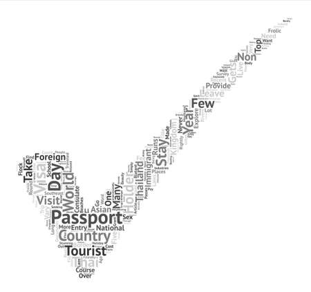 Live And Stay In Thailand With A Passport Holder text background word cloud concept
