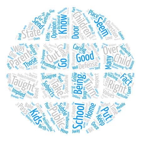 The Rights of Parents Word Cloud Concept Text Background Ilustração