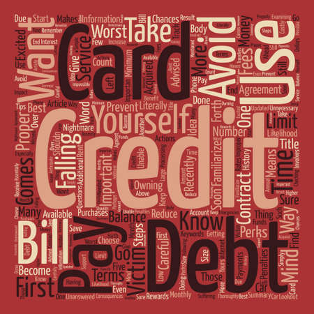 How To Use Your First Credit Card Word Cloud Concept Text Background