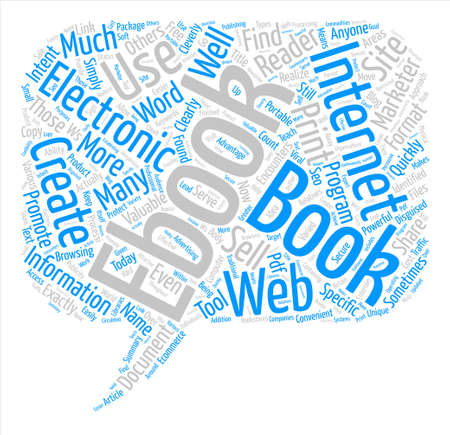 encounters: The Ws Of Ebooks Word Cloud Concept Text Background Illustration