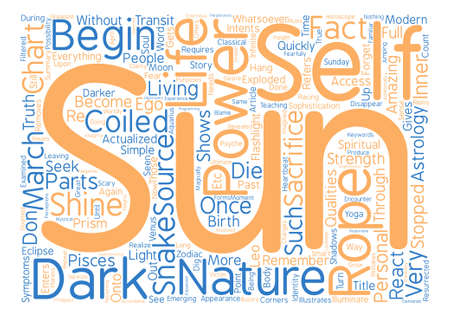 The Sun Is The Source Of Power text background word cloud concept Illustration