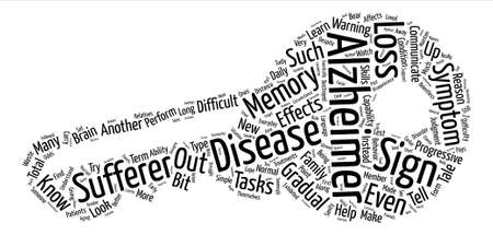 progressively: sign of alzheimers text background word cloud concept