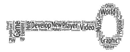 What it makes a video game popular word cloud concept text.