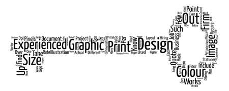 The value of an experienced graphic designer word cloud concept text.
