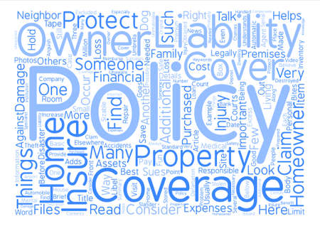 homeowners: What Should Your Homeowners Insurance Cover Word Cloud Concept Text Background