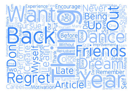 No Regrets text background word cloud concept