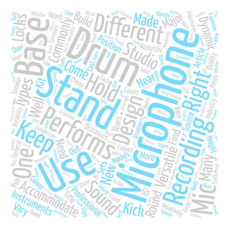 Types of Microphone Stands Word Cloud Concept Text Background