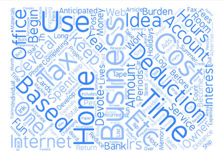 Tax Deductions For The Home Business Owner text background word cloud concept Ilustração