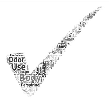 Home Remedies For Body Odor Word Cloud Concept Text Background