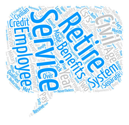 The Civil Service Retirement System Word Cloud Concept Text Background