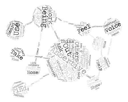 Ten strategies to help you be assertive word cloud concept text.