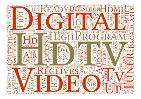 hdtv: hdtv tuners Word Cloud Concept Text Background