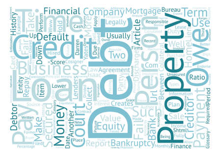 Debt a Glossary of Terms text background word cloud concept