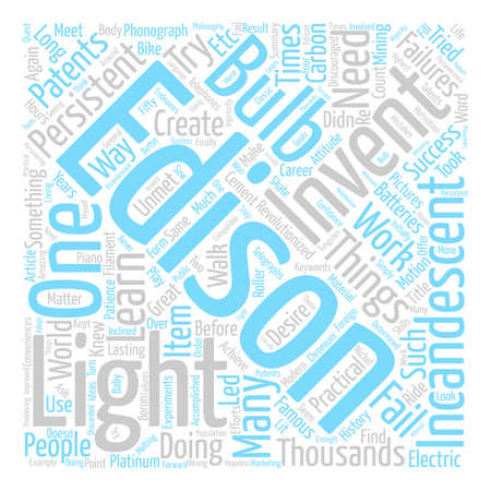 Thousands of Failures but Thousands of Patents Word Cloud Concept Text Background