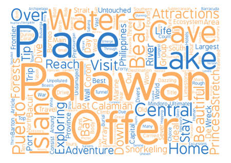 untouched: Palawan The Last Frontier Word Cloud Concept Text Background