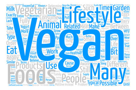 fully: What Exactly is Vegan Word Cloud Concept Text Background Illustration