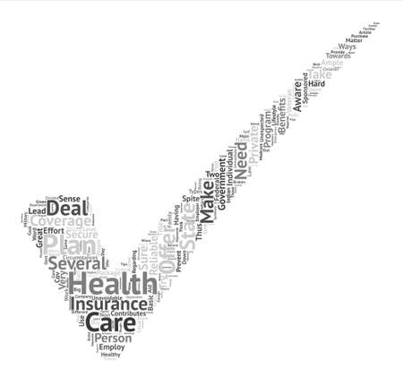 What You Need To Know About Health Insurance Word Cloud Concept Text Background