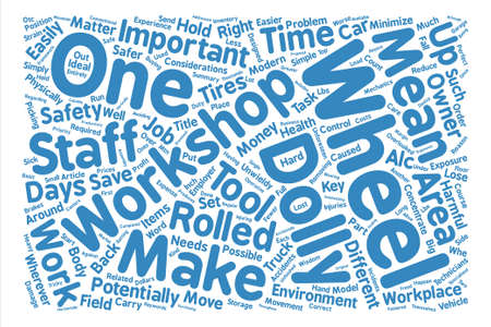 matter: Wheel Dollies Can Reduce Work Related Injuries text background word cloud concept