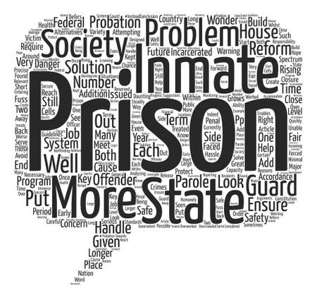 incarcerated: Prison Reform text background word cloud concept Illustration
