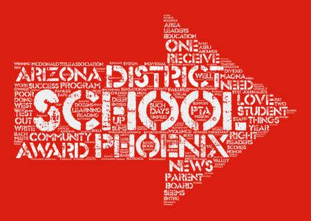 Phoenix Schools Receive Numerous Accolades text background word cloud concept