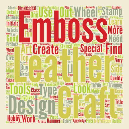 details: Leather craft details text word cloud concept.