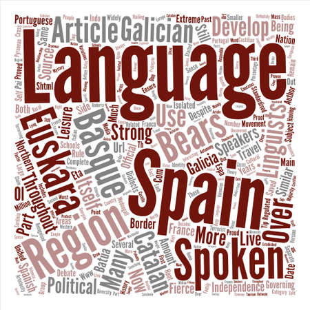 Spain s Other Languages text background word cloud concept