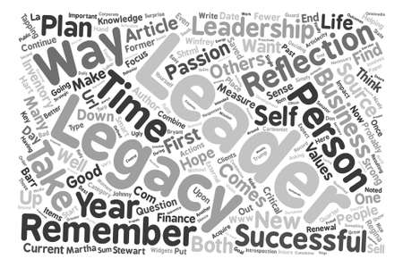 regina: Your Leadership Legacy text background word cloud concept