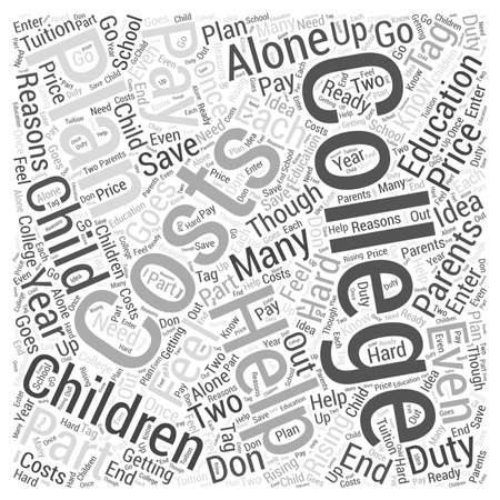 college costs Word Cloud Concept