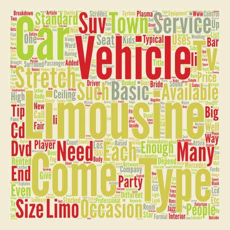Limousine Services Word Cloud Concept Text Background
