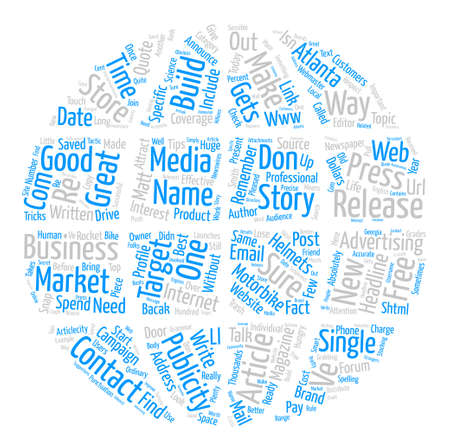 How To Get Free Publicity For Your Business text background word cloud concept Illustration