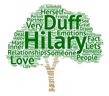 The Ins And Outs Of Hilary Duff s Relationships text background word cloud concept