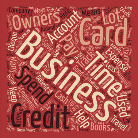 cheques: How A Business Credit Card Can Help Your Business text background word cloud concept