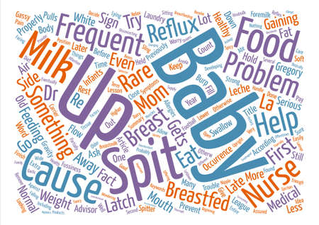 Help My Breastfed Baby Spits Up Frequently Word Cloud Concept Text Background