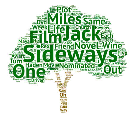 screenplay: Sideways DVD Review Word Cloud Concept Text Background