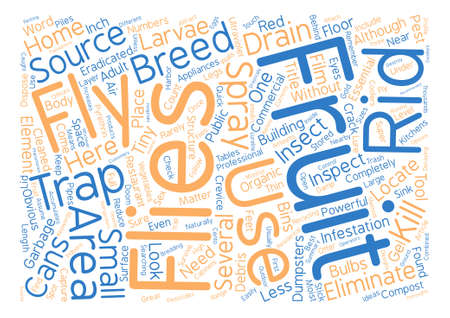 How to Get Rid of Fruit Flies text background word cloud concept Illustration