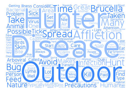 disease and hunters Word Cloud Concept Text Background
