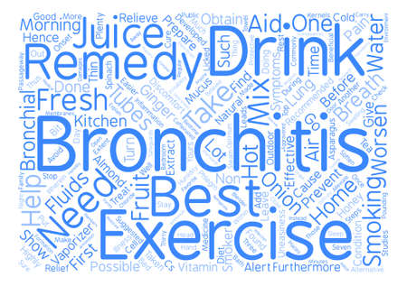 home remedy for bronchitis text background word cloud concept Illustration