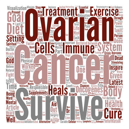 Ovarian cancer cure Word Cloud Concept Text Background