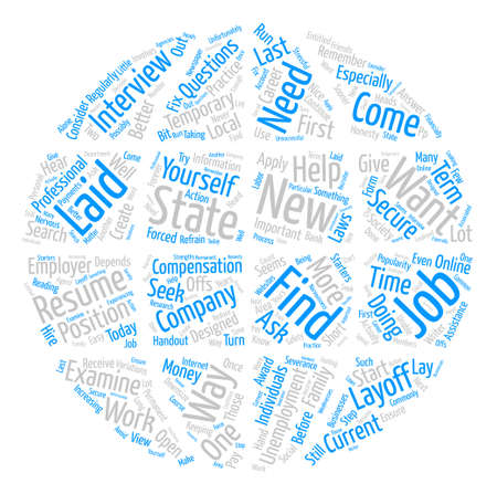 What You Should Do If You Are Laid Off From Your Job text background word cloud concept Illustration
