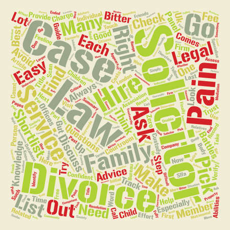 Help I m in the UK and I need divorce advice text background word cloud concept