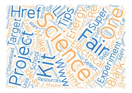 tremendous: Tremendous Science Fair Tips Word Cloud Concept Text Background Illustration